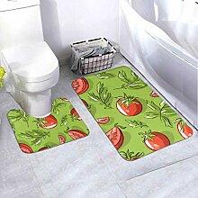 Badematten-Set Muster Tomaten 2-teiliges