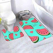 Badematten-Set-Muster Wassermelone 2-teiliges