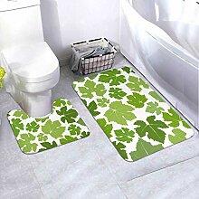 Badematten-Set Muster Wein 2-teiliges Teppich-Set