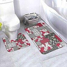 Badematten-Set Patchwork 2-teiliges Teppich-Set