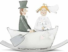 Baden - Brautpaar im Paddelboot,