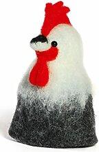 Baden dekorativer niedlicher Eierwärmer Hahn aus