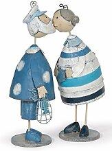 Baden Knutschis Fischermann und Frau 18 cm Dekoration Deko Hochzeitsgeschenk Metallfigur