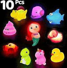 Badespielzeug, 10 Packungen beleuchtetes