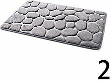 Badeteppich Kieselstein Stein Muster Flanell Flanell Teppichboden Schaum Dusche Matte Bath carpet 40 x 60 cm by Juily