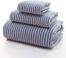 Badetuch Frottiertücher Handtuch Set Streifen