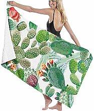 Badetuch Wickeln grüne Koralle Kaktus Blumen