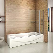 Badewanne 2 tlg. Faltwand Duschwand