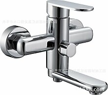 Badewanne Armatur,Badewanne mit heißem und kaltem Wasser mischen Hahn mit Dusche , Luxus Paar CHROM Wasserfall Armatur BAD,