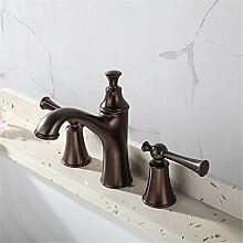 Badewanne Armatur Split Waschbecken Küche split Wasserhahn kreative Kupfer Wasserhahn