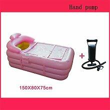 Badewanne Aufblasbare Badewanne Eindickung Erwachsene Badewanne Faltbare Kind nehmen Sie ein Bad Badewanne Kunststoff Bad Fässer Geschenk Four Seasons Rosa-Grün Aufblasbare Badewanne ( Farbe : #9 )