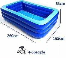 Badewanne Aufblasbarer Pool Dicker Erwachsener Square Swimming Pool (Platz für 5 Personen, geeignet für Zuhause) Aufblasbare Badewanne ( Farbe : Drei Schichten , größe : 260cm )