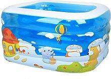 Badewanne Baby-Swimmingpool-Säuglingsaufblasbarer Dickerer Kinder-Swimmingpool-Baby-Ozean-Pool Aufblasbare Badewanne ( größe : 120*102*75cm )