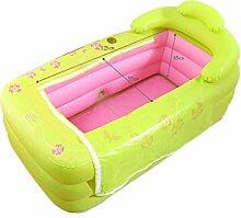 Badewanne Doppelte Badewanne faltbare aufblasbare starke warme Erwachsen-Badewanne, Kinderaufblasbare Pool-Badewanne, grünes Rosa Aufblasbare Badewanne ( Farbe : A )
