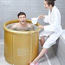 Badewanne Eindickung Erwachsene Badewanne Faltbare Stent Kind nehmen Sie ein Bad Badewanne Kunststoff Bad Fässer Geschenk Four Seasons Goldrosa ( farbe : Gold , größe : S )