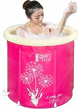 Badewanne Faltbare aufblasbare starke warme Erwachsen-Badewanne, Kinderaufblasbare Pool-Badewanne, Rosa Aufblasbare Badewanne
