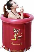 Badewanne Faltbare aufblasbare starke warme Erwachsen-Badewanne, Kinderaufblasbare Pool-Badewanne, rot Aufblasbare Badewanne