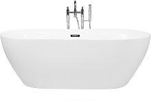 Badewanne freistehend weiß oval 160 x 75 cm