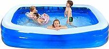 Badewanne Großes aufblasbares Badewannen-Paddling-Pool-Seekugel-Pool für Kind / Baby / Erwachsener / Familie mit elektrischer Pumpe Verwendbar für 7-9 Leute (305 * 185 * 65cm) Aufblasbare Badewanne