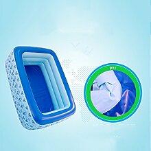 Badewanne Kind-aufblasbarer Bad-aufblasbarer Swimmingpool verdicken Isolierungs-Baby-Swimmingpool-Bad-Plastik Falten-Wannen-Ozean-Ball-Pool-schaufelnde Pool-Wasser-Spielplatz-Fuß-Pumpe Aufblasbare Badewanne