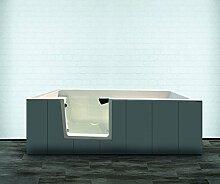 Badewanne mit Tür 170x80 Mineralguss Badewanne mit Einstieg