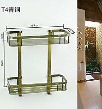 Badewanne Racks wc wc Badezimmer h?ngen Cheong Wa antiken Edelstahl doppelwandige Haken montieren, D 184 Tsing alten Doppel