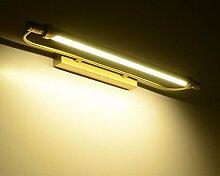 Badewanne Spiegel Lampen LED-Körper aus reinem Kupfer und Acryl Lampenschirm, LisaFeng innen Spiegel vorne Licht Moderne wasserdicht Beschlagfrei Wandleuchte, Messing, 54 cm