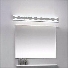 Badewanne Spiegel Lampen lisafeng Led vor dem Spiegel Lampe mit hoher Helligkeit vor dem Spiegel Licht wasserdicht Beschlagfrei wc Badezimmer spiegel Lampe, 15W/40cm/weißes Lich