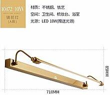 Badewanne Spiegel Lampen LisaFeng Spiegel vordere Lampe Kupfer led wasserdicht beschlagfrei Spiegelschrank Beleuchtung, 71 cm