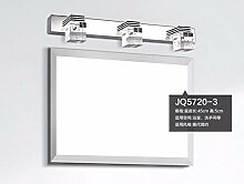 Badewanne Spiegel Lampen LisaFeng Spiegel vordere Lampe LED crystal Edelstahl Wandleuchte, 45CM, weißes Lich
