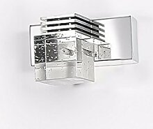 Badewanne Spiegel Lampen LisaFeng Spiegel vordere Scheinwerfer LED crystal Spiegelschrank Beleuchtung, 15 cm weißes Lich