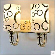 Badewanne Spiegel Lampen LisaFeng vor dem Spiegel Glas Wandleuchte led, 18cm