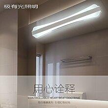 Badewanne Spiegel Lampen lisafeng vor dem Spiegel Lampe ist eine einfache und stilvolle LED-Licht Bad wc Spiegel vorne Licht, 20W/51cm/weißes Lich