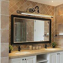 Badewanne Spiegel Lampen LisaFeng vor dem Spiegel lampe Kupfer LED wasserdicht beschlagfrei Feuchtigkeit retro Spiegel Schränke, weißes Licht, 45 cm