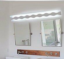 Badewanne Spiegel Lampen LisaFeng vor dem Spiegel Lampe LED Feuchtigkeit resistent Acryl wc Licht, 80cm - warmes Lich
