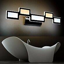 Badewanne Spiegel Lampen LisaFeng vor dem Spiegel Lampe LED Feuchtigkeit resistent Acryl wc Licht 55cm, Dual Color