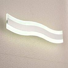 Badewanne Spiegel Lampen LisaFeng vor dem Spiegel Lampe LED Feuchtigkeit resistent Acryl wc Licht, 50cm - weiß