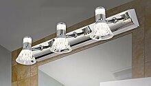 Badewanne Spiegel Lampen LisaFeng vor dem Spiegel Lampe LED Feuchtigkeit resistent Acryl wc Licht, 30cm - weiß