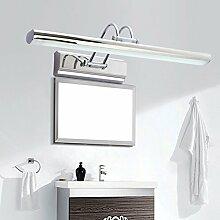 Badewanne Spiegel Lampen LisaFeng vor dem Spiegel Lampe minimalistischen LED Edelstahl Korrosionsschutz Wandleuchten, Weiß 40 cm