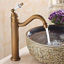 Badewanne Waschbecken - breite Kupfer antik kontinentales warmes/kaltes Wasser wird angehoben und die einzelne Bohrung auf dem Waschtisch Armatur, antike Farbe