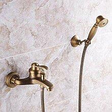 Badewanne Wasserhahn Antik Messing mit Handbrause