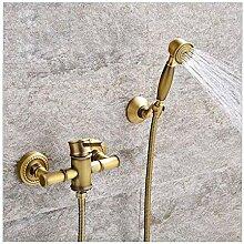 Badewanne Wasserhahn mit Handbrause Antik Messing
