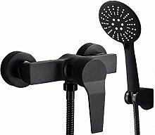 Badewanne Wasserhahn mit Handbrause schwarzer
