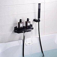 Badewanne Wasserhahn Wasserfall mit Dusche Warm-