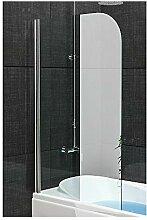 Badewannenabtrennung Echtglas/Trennwand ca. 75 x