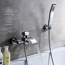 Badewannenarmatur Typ Wasserfall mit Duschbrause