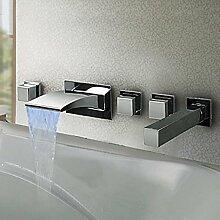 Badewannenarmatur Unterputz-LED-Badewannenarmatur