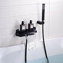 badewannenarmatur wasserfall mit brause warmes und