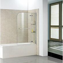 Badewannenaufsätze 2 tlg 120x140cm Faltwand