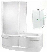 Badewannenaufsatz 110x135cm SAMOS Duschbadewanne